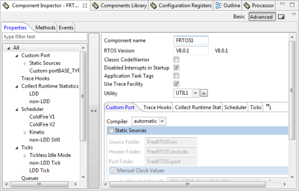 Component Inspector in Tabbed View