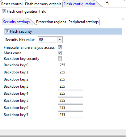 Flash Security Settings