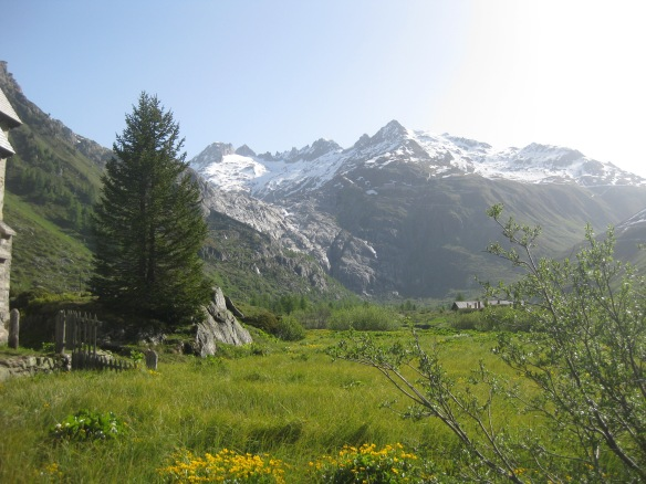 In Gletsch with view to Rhone Glacier
