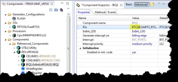 Interrupt Pin of nRF24L01+ Configured