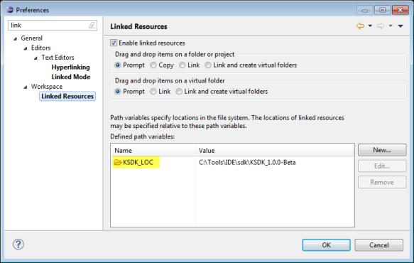KSDK_LOC Linked Resource Variable