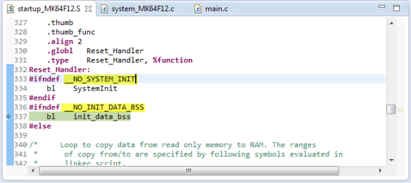 __NO_SYSTEM_INIT and __NO_INIT_DATA_BSS