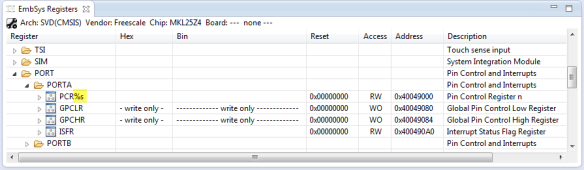 PCR Register with %s