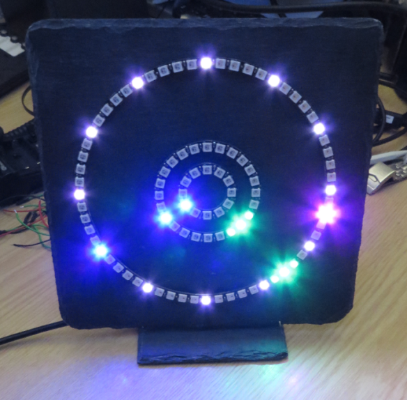 Adafruit Neopixel Clock with 60+24+12 LEDs
