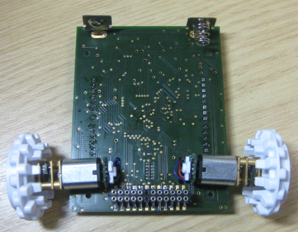 Board Bottom Side with Motors