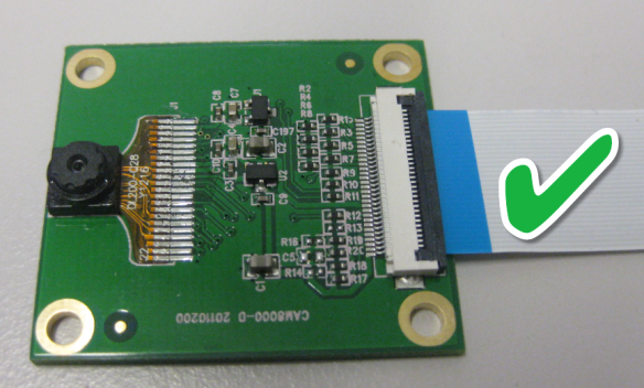 CAM8000-D Camera Board with correct cable orientation