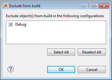 Exclude from Build with Build Configurations