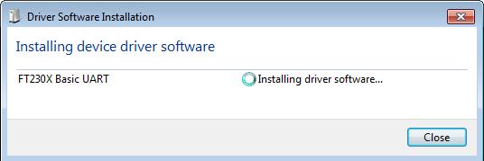 Installing FT230X Basic UART