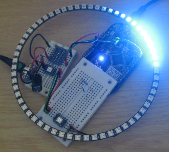 First Adafruit NeoPixel Blinks with the FRDM Board | MCU on