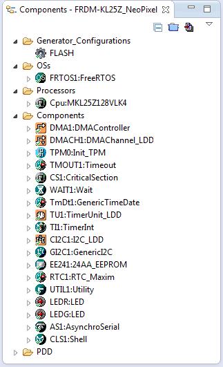 Processor Expert Components for NeoPixel Clock