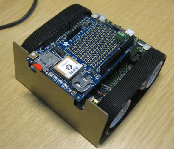 Robot with Adafruit GPS Shield