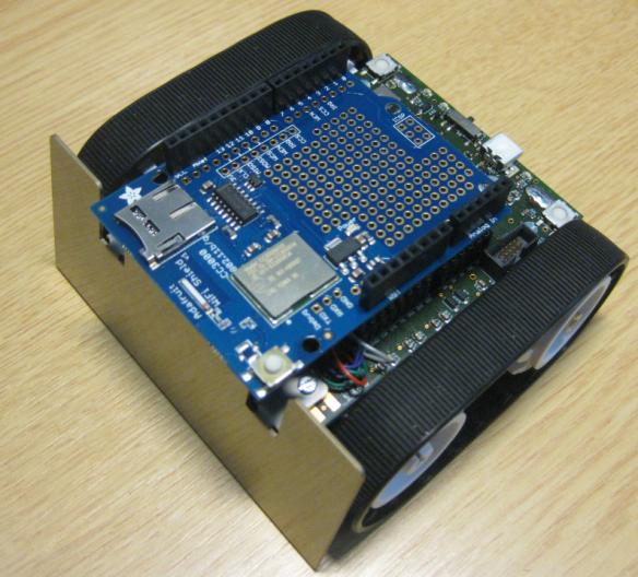 Robot with Adafruit WiFi Shield