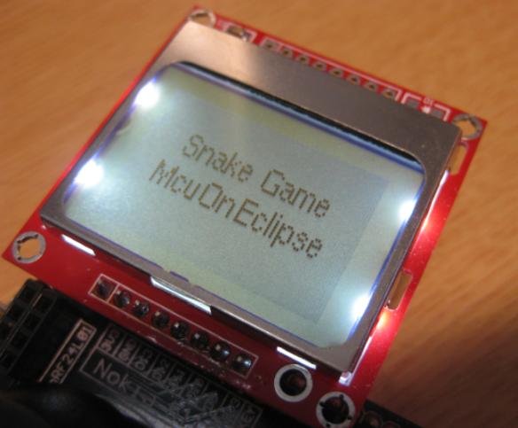 Startup Screen for Snake Game
