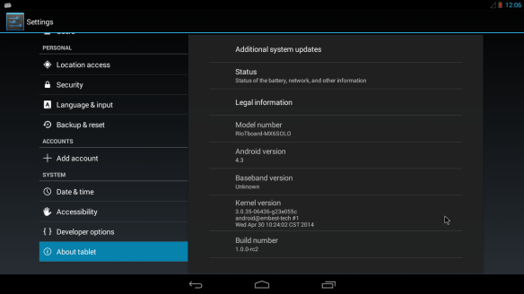 Updated Android to new version