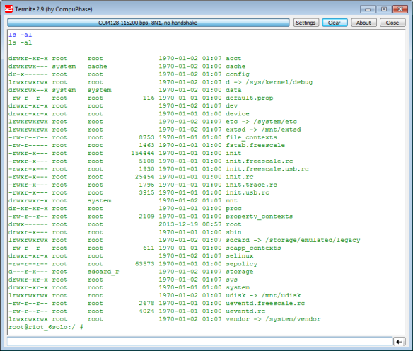 Working Console and Shell Interface