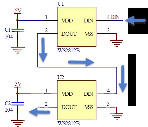 Ws2812 wiring diagram ws2812 timing led circuit diagrams series and parallel circuits diagrams ws2812 data sheet ws2812 ring 1 2