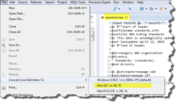 Converting File Delimiters to Unix