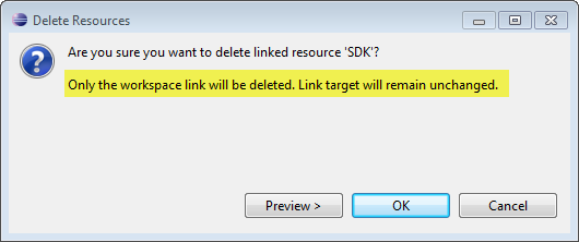 Deleting a Link to a Folder