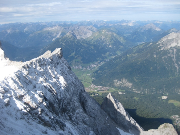 View from the Zugspitze to the West