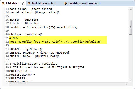 Makefile.in Patch Part 1