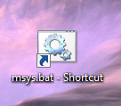 Shortcut on Windows Desktop