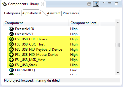 USB Stack Components