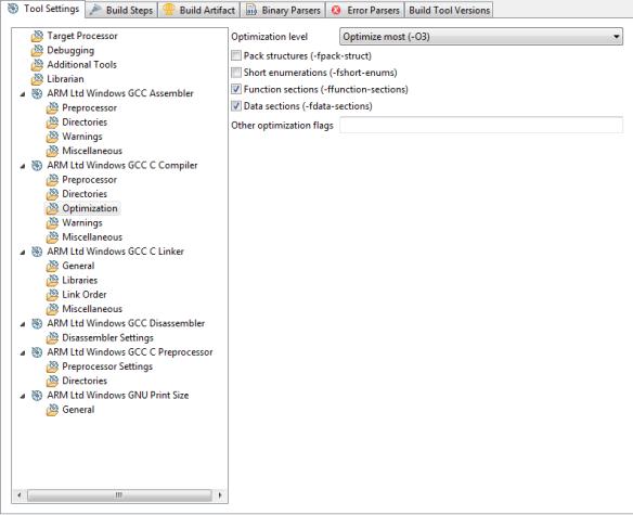 CodeWarrior Build Panels