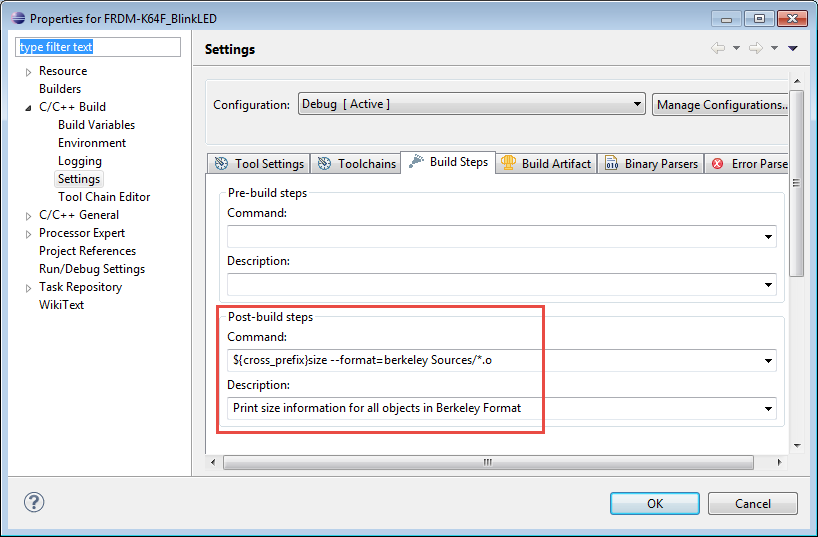 Executing Multiple Commands as Post-Build Steps in Eclipse