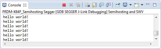 Semihosting Printf Output