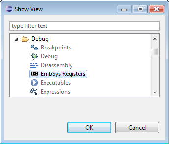 Show View EmbSys Registers
