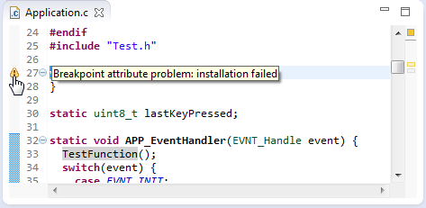 Breakpoint attribute problem installation failed