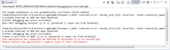 GDB Client Error Report