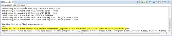 J-Link Failed to Erase in CodeWarrior