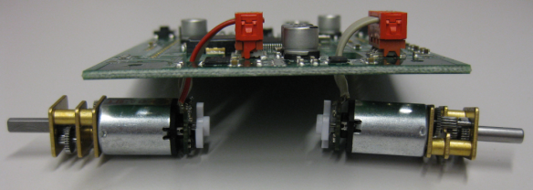 Motors connected to Board