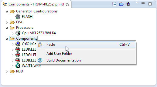 Paste of Components in Destination Project