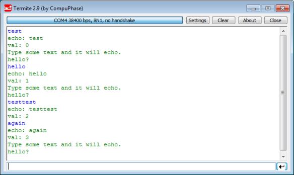 Test Program for USB CDC on FRDM-K64F