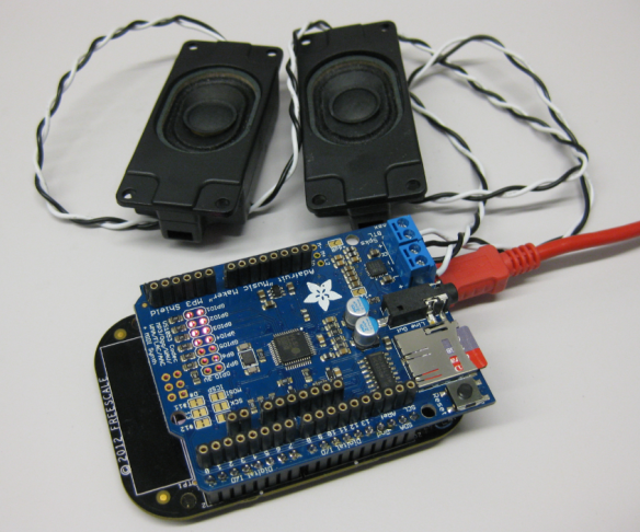 Adafruit Music Maker MP3 Shield with Loud Speakers