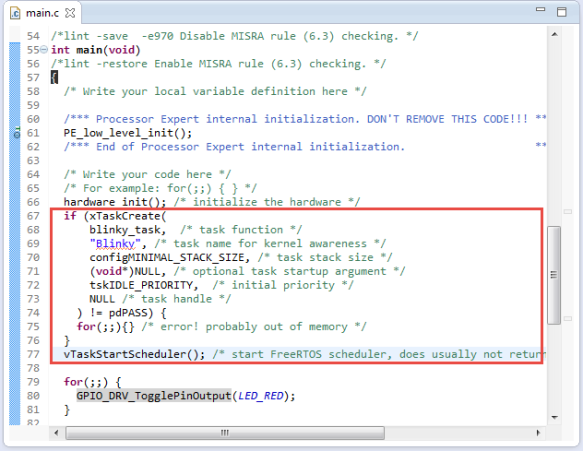 Added Task Creation Code into Main