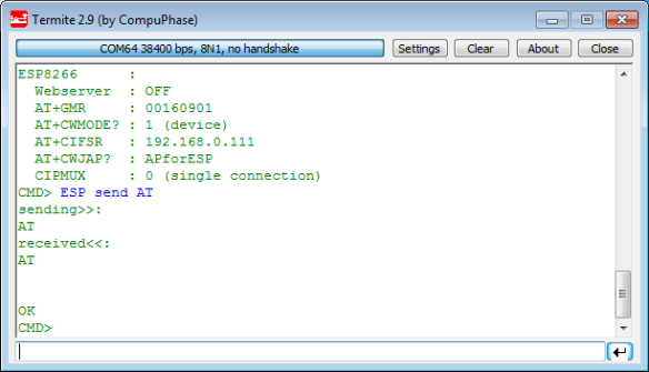 AT Command Output