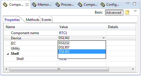 DS1342 Device Support in RTC_Maxim Processor Expert Component