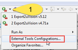 Eclipse External Tool Configuration