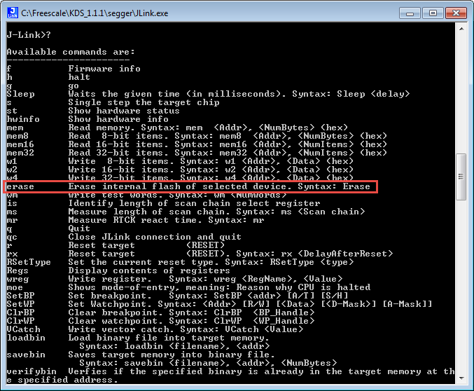 Tutorial: How to Erase the FLASH with the GNU GDB debugger