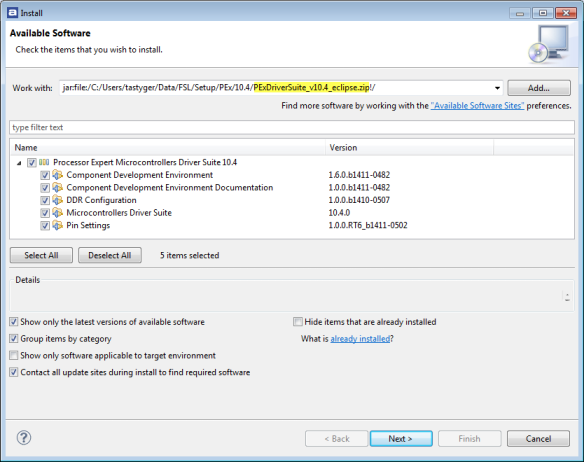 Installing DriverSuite