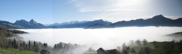 Valey with Inversion Fog
