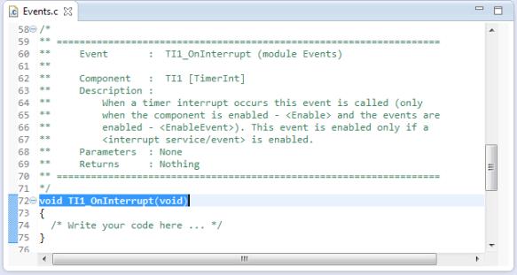OnInterrupt in Events.c