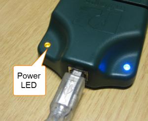 Power LED on P&E Multilink