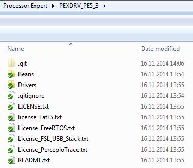 Processor Expert Component Repository