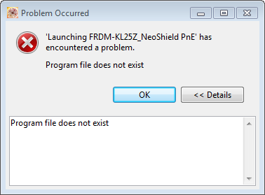 Program File Does not Exist