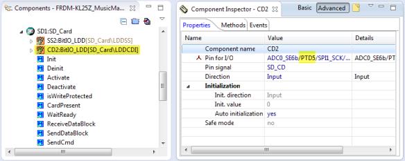 SD Card Detect Pin in Properties