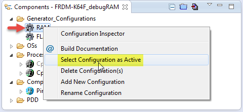 Selecting Configuration